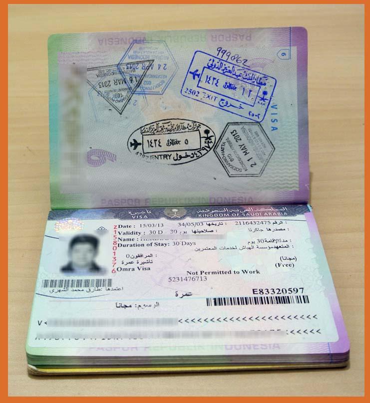 Contoh Visa Umroh