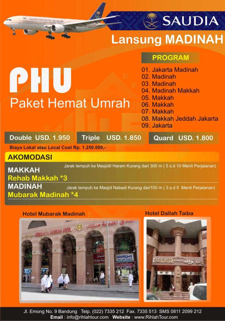 Paket Umroh Rihlah Tour PHU